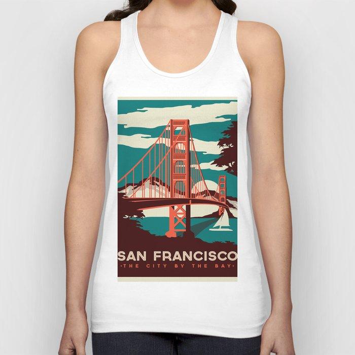 Vintage poster - San Francisco Unisex Tank Top