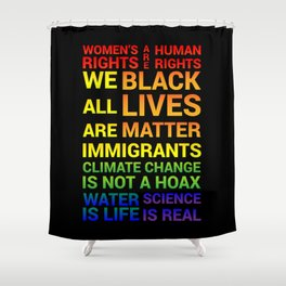 Women's Rights are Human Rights Shower Curtain