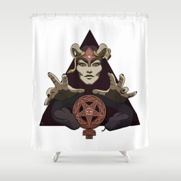 EVIL FEMINIST CULT OF FEMINISM AND EVIL Shower Curtain