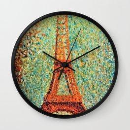 Eiffel Tower by George Seurat Wall Clock