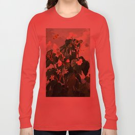 Pink Floral The Oblique-Leaved Begonias : Temple of Flora Long Sleeve T-shirt