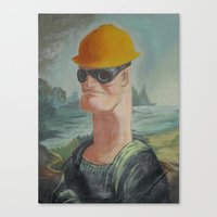 engineer Canvas Prints featuring Nope Engineer by dadostirlo
