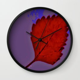 BE LIKE A LEAF #6 Wall Clock