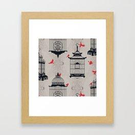 Kiss Empty Brid Cages Framed Art Print