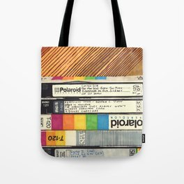 VHS & Wooden Wall Tote Bag