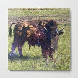 Cosmic Young Bull Metal Print