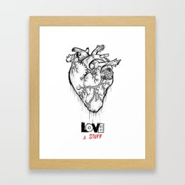 Heart Of Hearts: Outline & Stuff Framed Art Print