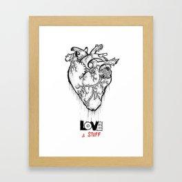 Heart Of Hearts: Outline & Stuff Framed Art Print
