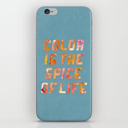Spice of Life iPhone Skin