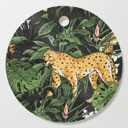 Cheetah in the wild jungle Cutting Board