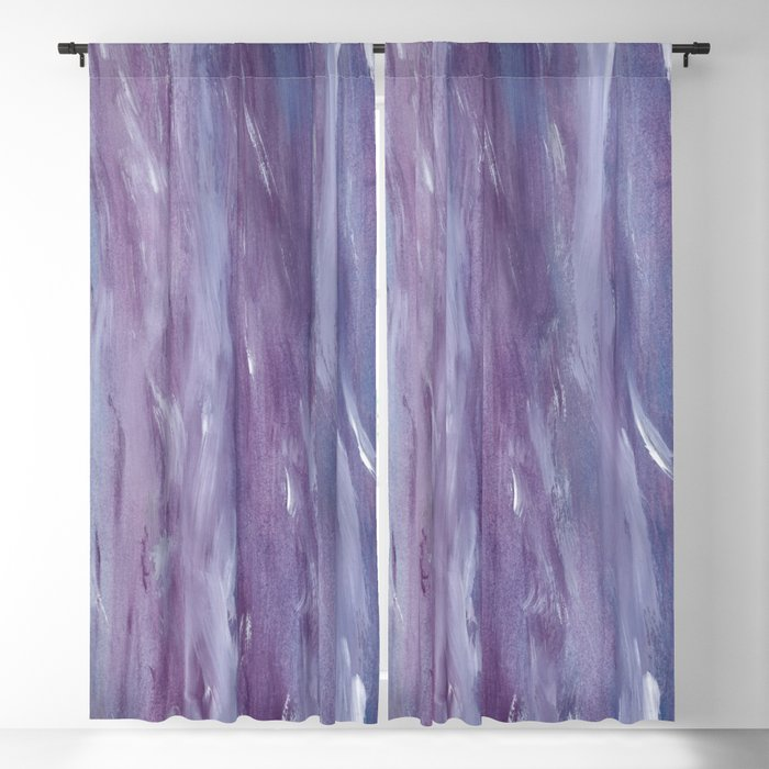 Touching Purple Blue Watercolor Abstract #1 #painting #decor #art #society6 Blackout Curtain