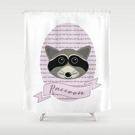 Mevrouw Raccoon Shower Curtain