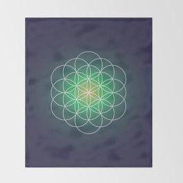 Flower of life Throw Blanket