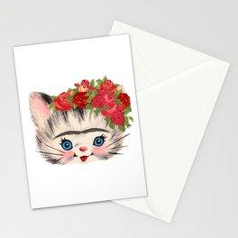 Frida Catlo Vintage Retro Cat Old Skool Stationery Cards