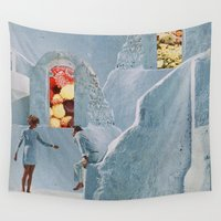 alice wonderland Wall Tapestries featuring Follow Alice Into Wonderland by Mrs Araneae