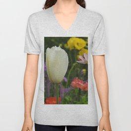 White Tulip Unisex V-Neck