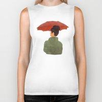 umbrella Biker Tanks featuring Umbrella by Eveline