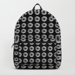 Flores Blanco y negro Backpack