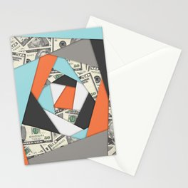 Layered Money Stationery Cards
