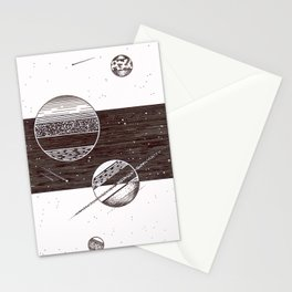 Space Stripes Stationery Cards