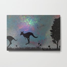 Kangaroo fun <3 Metal Print