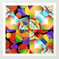 Prismatic Rainbow Art Print