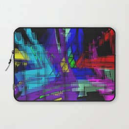 Abstract, geometrical, dimensional, colored. Laptop Sleeve