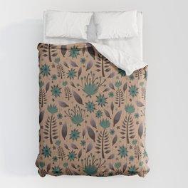 Blue vintage flower  Comforters