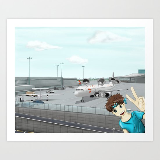 School Trip Art Print