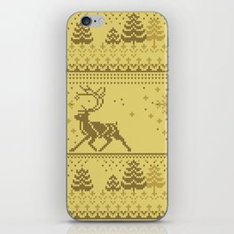 Christmas knitted pattern iPhone Skin