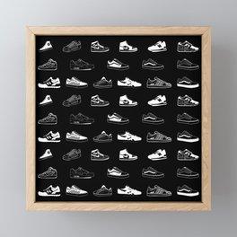Black Sneaker Framed Mini Art Print