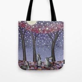 starlit bunnies Tote Bag