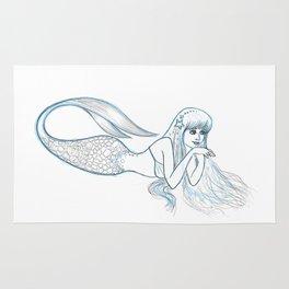 Mermaid Sketch Rug