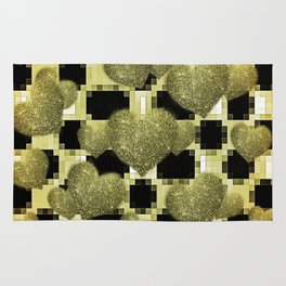 LICORICE AND LEMON HEARTS Rug