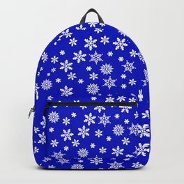 Snowflakes on Dark Blue Backpack
