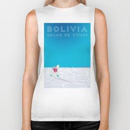 Bolivia Salt Flats Travel Poster Biker Tank