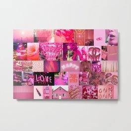 Pink Love Aesthetic Collage Metal Print