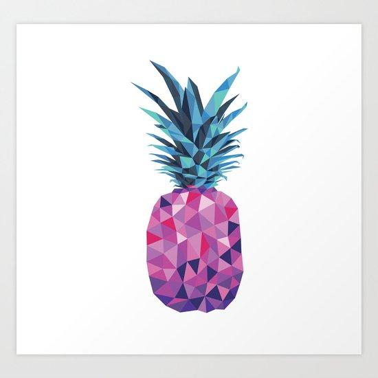 Purple Pineapple Art Print By Travla Creative Society6