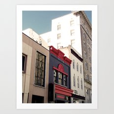 Main Street Downtown Durham NC Art Print