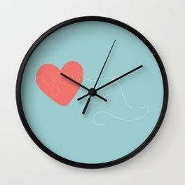 Stitched Heart Wall Clock