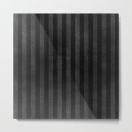 Black & Gray Velvet Stripe Pattern Metal Print