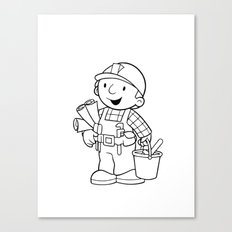 Bob The Builder Canvas Print