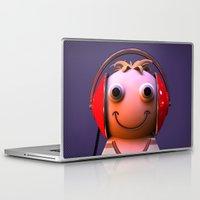 headphones Laptop & iPad Skins featuring Headphones by Aguinaldo Goncalves