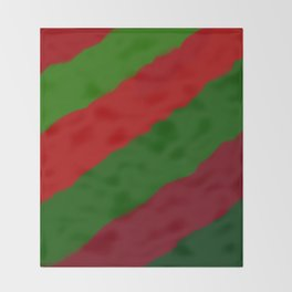 Red and Green Christmas Gift Throw Blanket