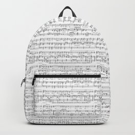 Sheet Music Black and White Pattern Backpack