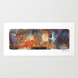 Mamie Dragon - Market Art Print