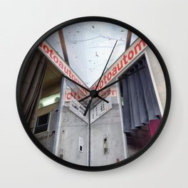 Two old photo booth in Berlin, Germany Wall Clock
