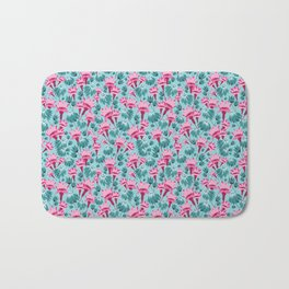 Pink & Teal Lovely Floral Bath Mat