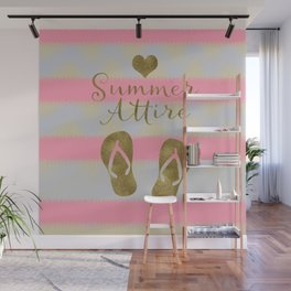 Summer Attire is Flip Flops Wall Mural
