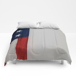 Side Flag (Color) Comforters